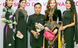 Hoa hậu Phan Thu Quyên, Á khôi Thạch Thảo khoe dáng mảnh mai trong áo dài Việt Hùng