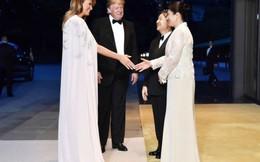 Đệ nhất phu nhân Mỹ diện váy 4.500 USD dự tiệc ở hoàng cung Nhật Bản