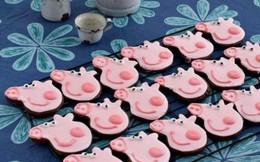 Làm bánh quy chocolate hình heo Peppa cho bé yêu ngày Tết