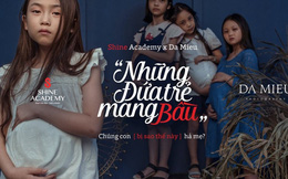 Rờn rợn ảnh 'Những đứa trẻ mang bầu' trong dự án truyền thông dụng ý tốt
