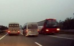 Đề nghị xử nghiêm xe khách ngược chiều trên cao tốc