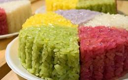 Xôi, bánh sắc màu đắt khách trong ngày rằm tháng Giêng