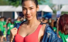 Á hậu Hoàng Thùy khoe 'body' khỏe khoắn chạy bộ gây quỹ hướng nghiệp