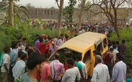 13 học sinh thiệt mạng trong tai nạn tàu hỏa đâm xe buýt thảm khốc ở Ấn Độ