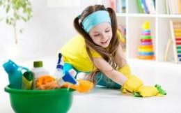 Những công việc dọn dẹp đơn giản dành cho trẻ