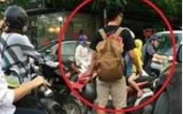 Dân mạng bức xúc hộ đôi bạn tình nguyện phân làn giao thông