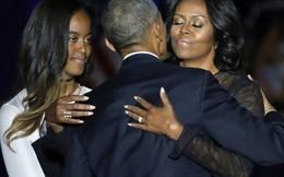 Vợ và con gái rưng rưng khi nghe Obama trải lòng