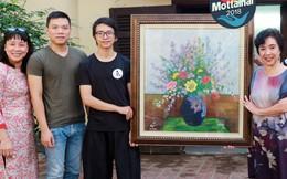 TS nhân trắc học Thẩm Hoàng Điệp tự tay vẽ tranh ủng hộ Mottainai 2018