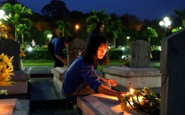 Lung linh ánh nến tri ân các anh hùng liệt sĩ tại Điện Biên