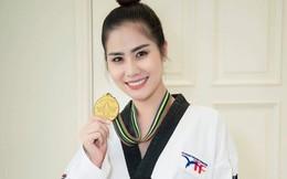 Á hậu Hoàng Hạnh khoe đai đen 2 đẳng Taekwondo