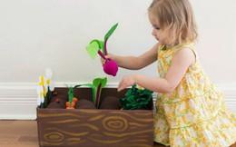 Tạo hình củ, quả làm vườn cây sắc màu cho bé