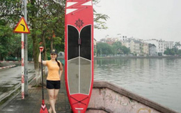Ván lướt sóng, thú vui giải trí mới của người Hà Nội