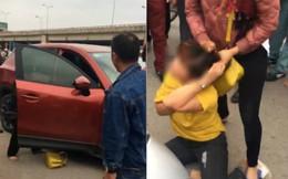 2 phụ nữ chặn ôtô đánh ghen kinh hoàng