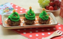 Độc đáo món 'cây thông Noel' từ thịt heo xay