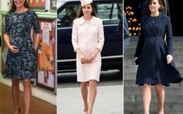 Mê mẩn thời trang bà bầu của Công nương Kate