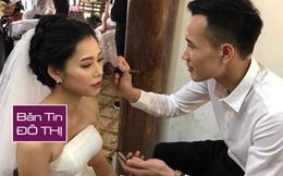 Chú rể dành 6 tháng học make-up để tự tay trang điểm cho vợ