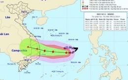 Bão số 6 giật cấp 15, tăng tốc hướng vào Quảng Ngãi - Khánh Hòa