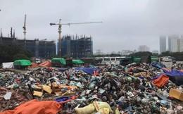 Nội thành Hà Nội rác ngập phố