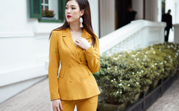 Hoa hậu Phí Thùy Linh gợi ý cách diện suit mùa thu thanh lịch