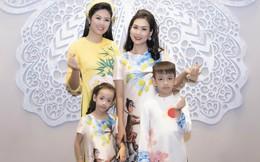 Nguyệt 'Phía trước là bầu trời' cùng 2 con trình diễn thời trang gây quỹ mổ tim cho trẻ em