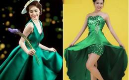 Miss Photo 2017: Rực rỡ trang phục dạ hội xanh lá