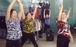 Chị em tiểu thương nhảy Zumba phòng chống bạo lực gia đình