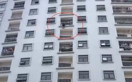Giải cứu người phụ nữ định tự tử ở tầng cao của chung cư