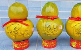 Độc đáo dừa hồ lô chưng Tết