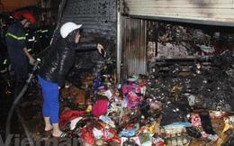 Cháy lớn tại chợ đầu mối Đông Hương ở Thanh Hóa