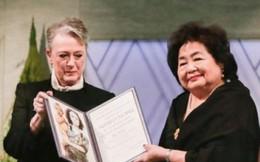 Cụ bà đại diện Tổ chức Xóa bỏ hạt nhân nhận giải Nobel Hòa bình 2017