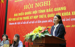 Đại biểu Quốc hội Nguyễn Thị Thu Hà tiếp xúc cử tri nữ theo chuyên đề tại Bắc Giang