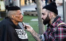 Truyền cảm hứng từ việc tạo mẫu tóc miễn phí cho người vô gia cư