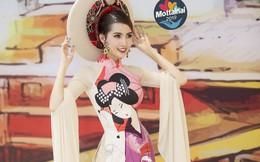 Hoa hậu Phan Thị Mơ vừa làm vedette vừa ủng hộ quỹ Mottainai