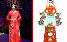 Hoàng Thùy 'hết hồn' với ý tưởng trang phục biến cô thành bàn thờ