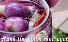 Làm hành tím ngâm chua ngọt chống ngán ngày Tết