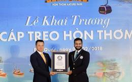 Cáp treo Hòn Thơm dài nhất thế giới đón những vị khách đầu tiên