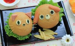 Hamburger thơm ngon, ngộ nghĩnh cho bé