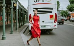 Siêu mẫu Minh Tú thanh lịch trên đường phố Australia