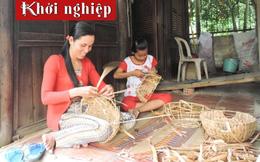 Châu Điền (Trà Vinh): Phụ nữ Khmer thu nhập ổn định từ đan lát