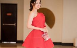 Á hậu Yan My hút ánh nhìn với váy đỏ lệch vai