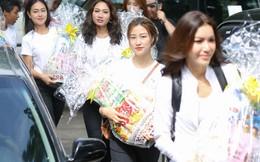 Siêu mẫu Minh Tú và ứng viên Miss Supranational Vietnam 2018 đi làm từ thiện