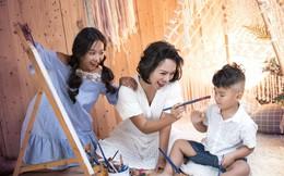 Thái Thùy Linh cùng 2 con thực hiện 'Hợp đồng mẫu tử'