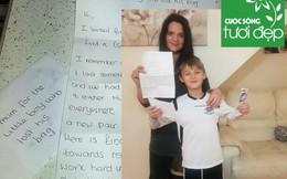 Lá thư xúc động gửi trước cửa nhà một người mẹ đơn thân