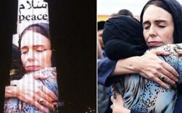 Thông điệp hoà bình từ hình ảnh Thủ tướng New Zealand chiếu trên tòa nhà cao nhất thế giới