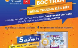 Khách hàng tại 25 siêu thị Lan Chi nhận 'mưa' quà tặng Diana Unicharm