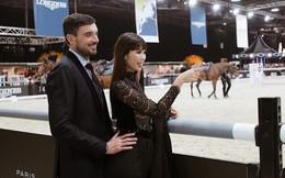 Nàng bầu Hà Anh và chồng Tây sang Hồng Kông xem đua ngựa