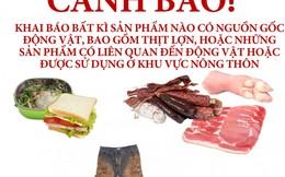 Thịt lợn và nhiều nông sản khác bị cấm mang vào Australia