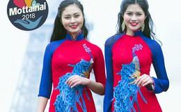Hoa khôi, Á khôi Miss Photo 2017 cùng các người mẫu trình diễn áo dài và kimono tại Ngày hội Mottainai 2018