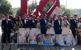 20 cặp đôi tổ chức cưới tập thể đúng ngày Lễ tình nhân tại Đà Lạt