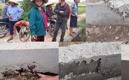 Hưng Nguyên - Nghệ An: Dân yêu cầu nhà thầu tạm ngừng vì thi công quá ẩu